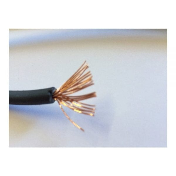 80' #10 BLACK SOLAR CABLE WITH 1000VDC XLPE INSULATION STRANDS