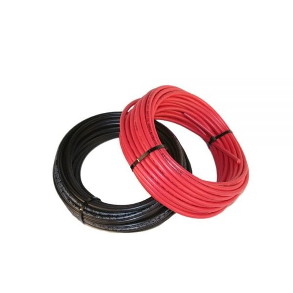 Black and Red Bulk Solar Cable