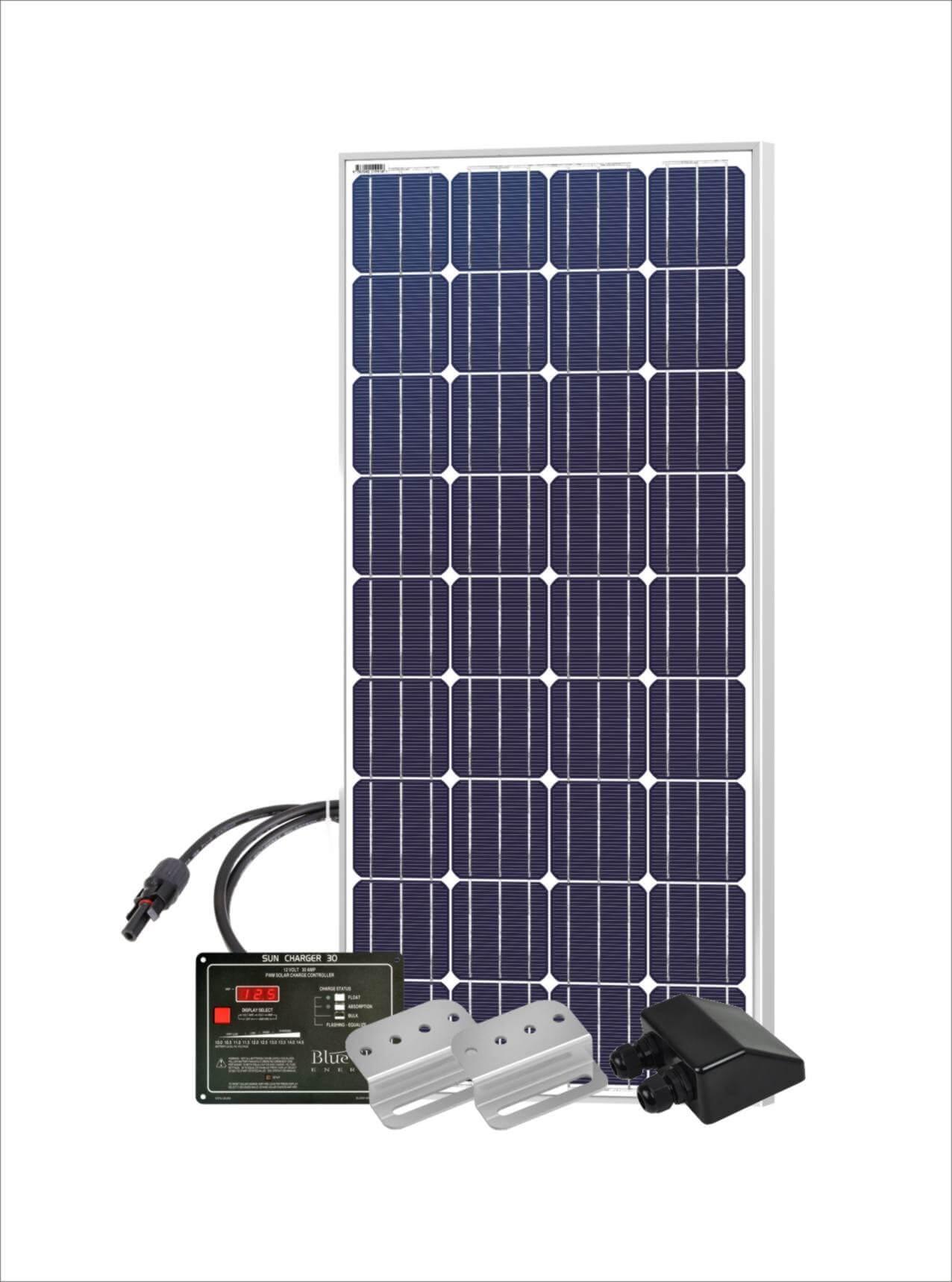150 Watt 12 Volt Dc Rv Solar Panel Starter Kit Global
