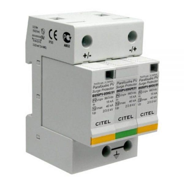 CITEL DS50PV-500 530VDC MAX DC SURGE PROTECTOR DIN MOUNT