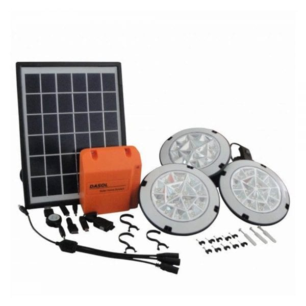 DASOL S1 SERIES SOLAR HOME SYSTEM PORTABLE SOLAR LIGHTING KIT WITH USB CHARGING PORT