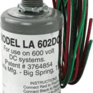 DELTA LIGHTNING ARRESTORS INC: 600VDC DC LIGHTNING ARRESTOR (LA602DC)