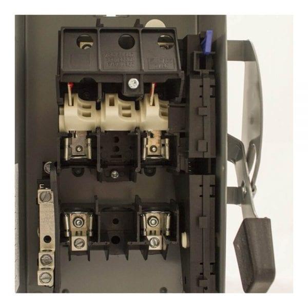 DISCONNECT SWITCH SQUARE D MODEL D222NRB 60A 240VAC 2P FUSIBLE NEMA 3R 3