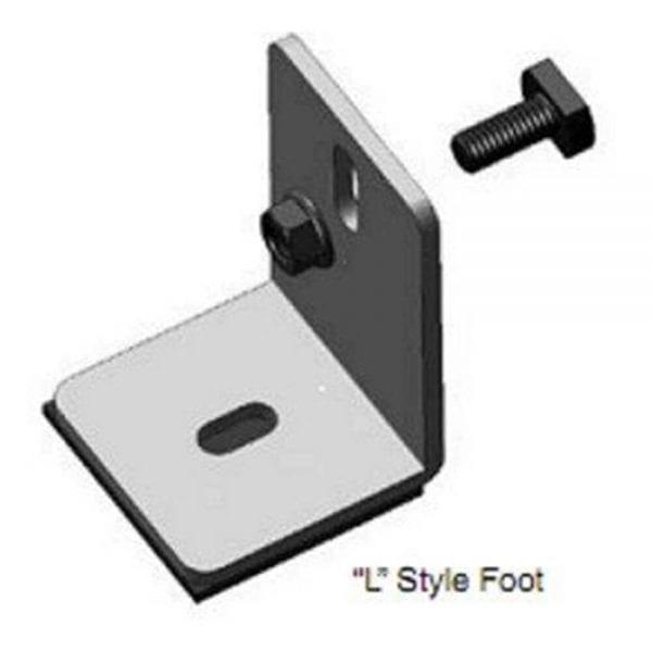 """DPW SOLAR LF2 2.5"""" L-MOUNTING FOOT"""