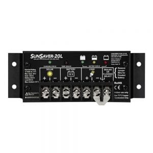 MORNINGSTAR SS 20L 12V SUNSAVER 20 AMP 12 V SOLAR CHARGE CONTROLLER