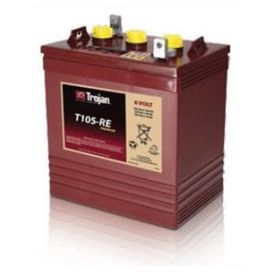 TROJAN T105 RE RENEWABLE ENERGY 6V GC2 DEEP CYCLE BATTERY 225AH 2